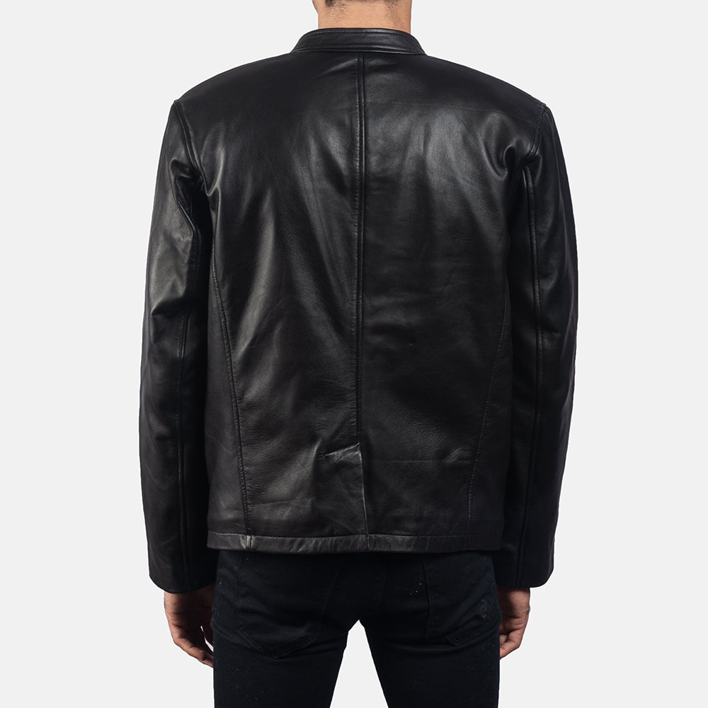 Ray Cutler Black Leather Blazer - Get Custom Leather Jackets