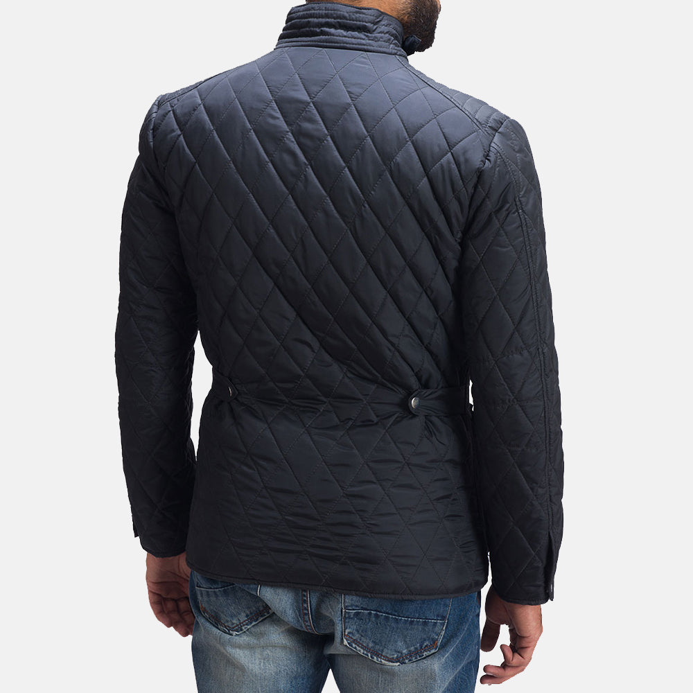 Barry Quilted Windbreaker Jacket - Get Custom Leather Jackets