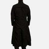 Dane Shadow Black Long Coat - Get Custom Leather Jackets