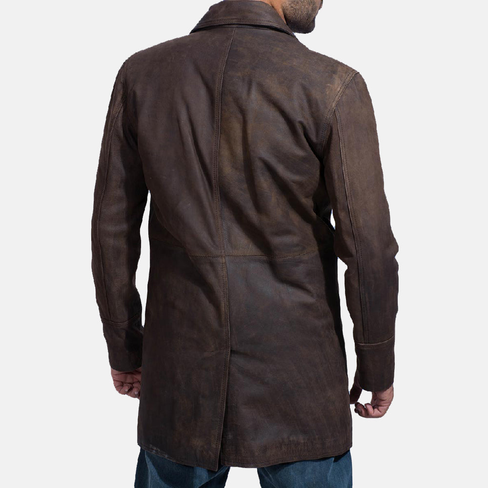 Half Life Brown Leather Coat - Get Custom Leather Jackets