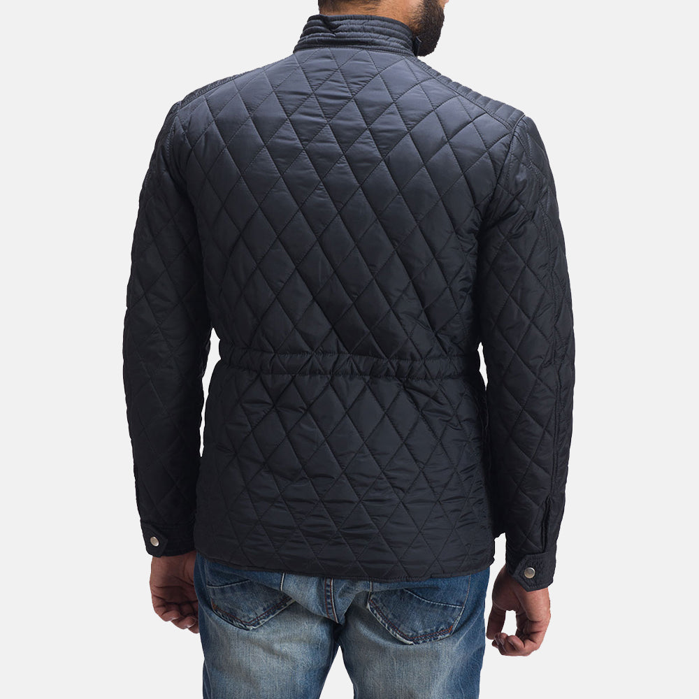 Nyle Quilted Windbreaker Jacket - Get Custom Leather Jackets