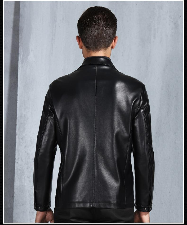 New Arrival Men's Genuine Leather Jacket Bomber Jacket - Get Custom Leather Jackets