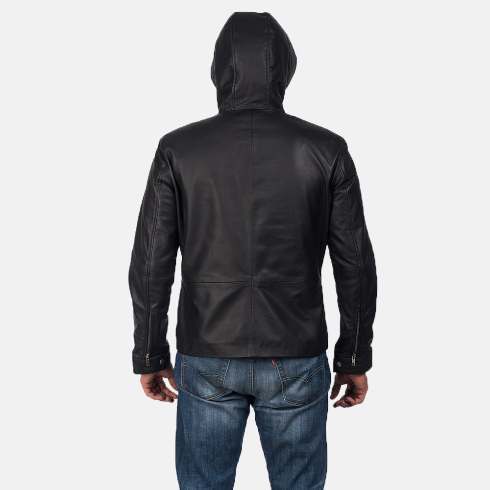 Black Leather fomal  Biker Jacket for men - Get Custom Leather Jackets