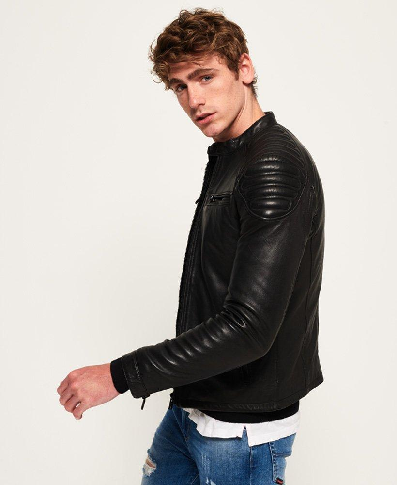 Prime Racer Black Leather Jacket for Men - Get Custom Leather Jackets