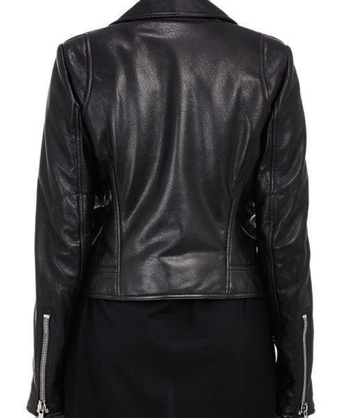 Super Oliya Women Biker Black Leather Jackets - Get Custom Leather Jackets