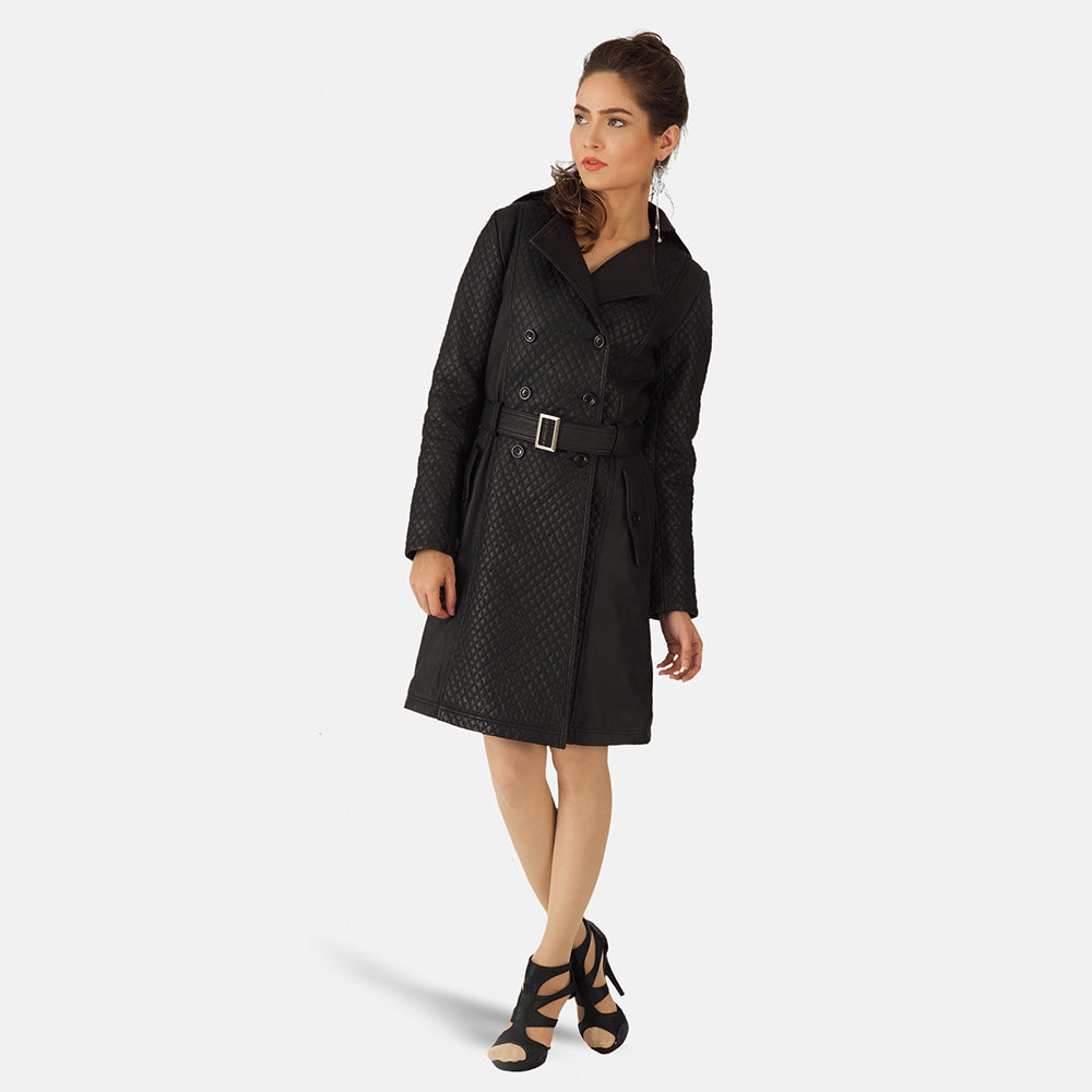 Missoni Black Leather Trench Coat - Get Custom Leather Jackets