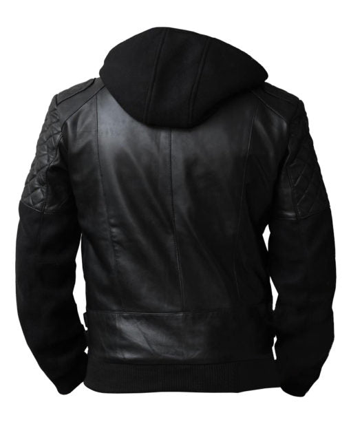 Chris Brown Quilted Biker Black Leather Jacket - Get Custom Leather Jackets