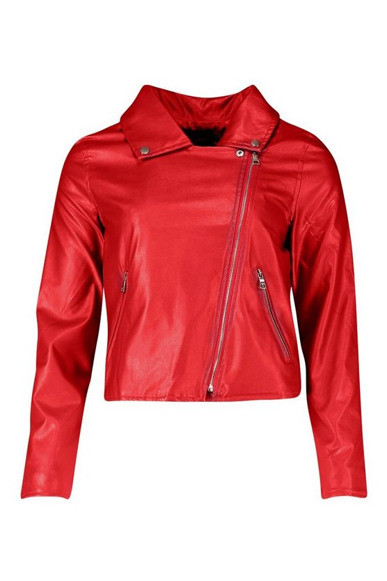 Faux Leather Zip Biker Jacket - Get Custom Leather Jackets