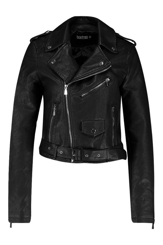 Pu Biker Jacket for womens - Get Custom Leather Jackets