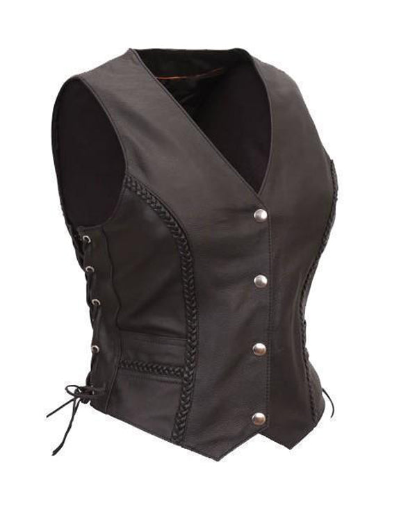 Super Cowgirl Women Leather Vests - Get Custom Leather Jackets