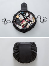 Load image into Gallery viewer, Black Cosmetic Travel Bag