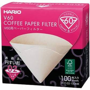 Hario V60 2 cup Filter Paper - 100pk