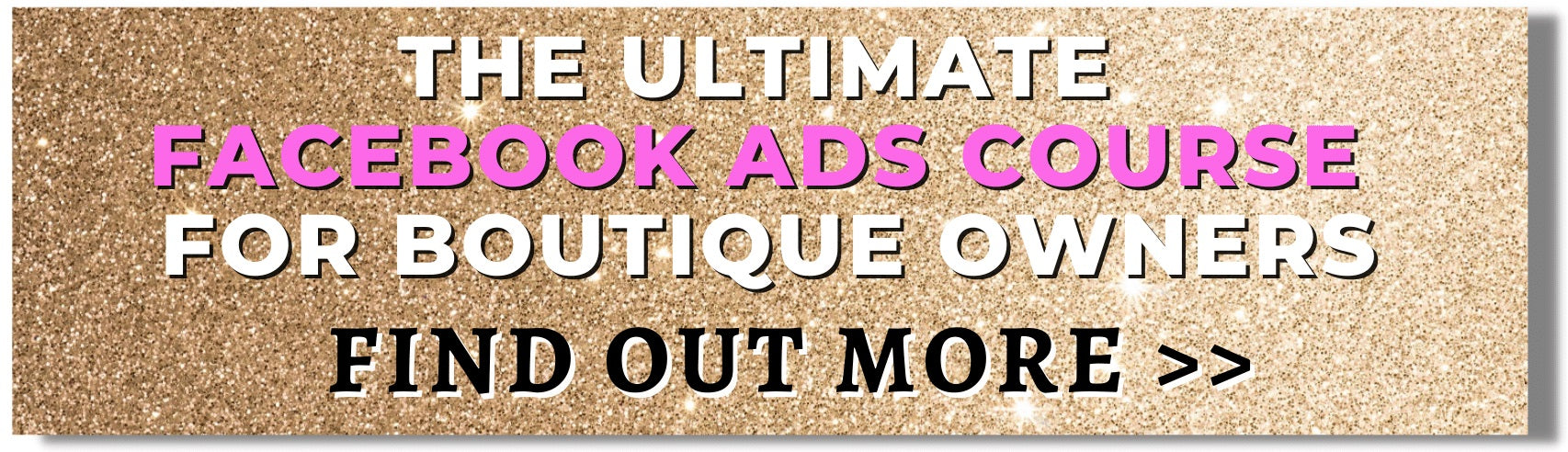The Ultimate Facebook Ads Course for Boutique Owners 2021