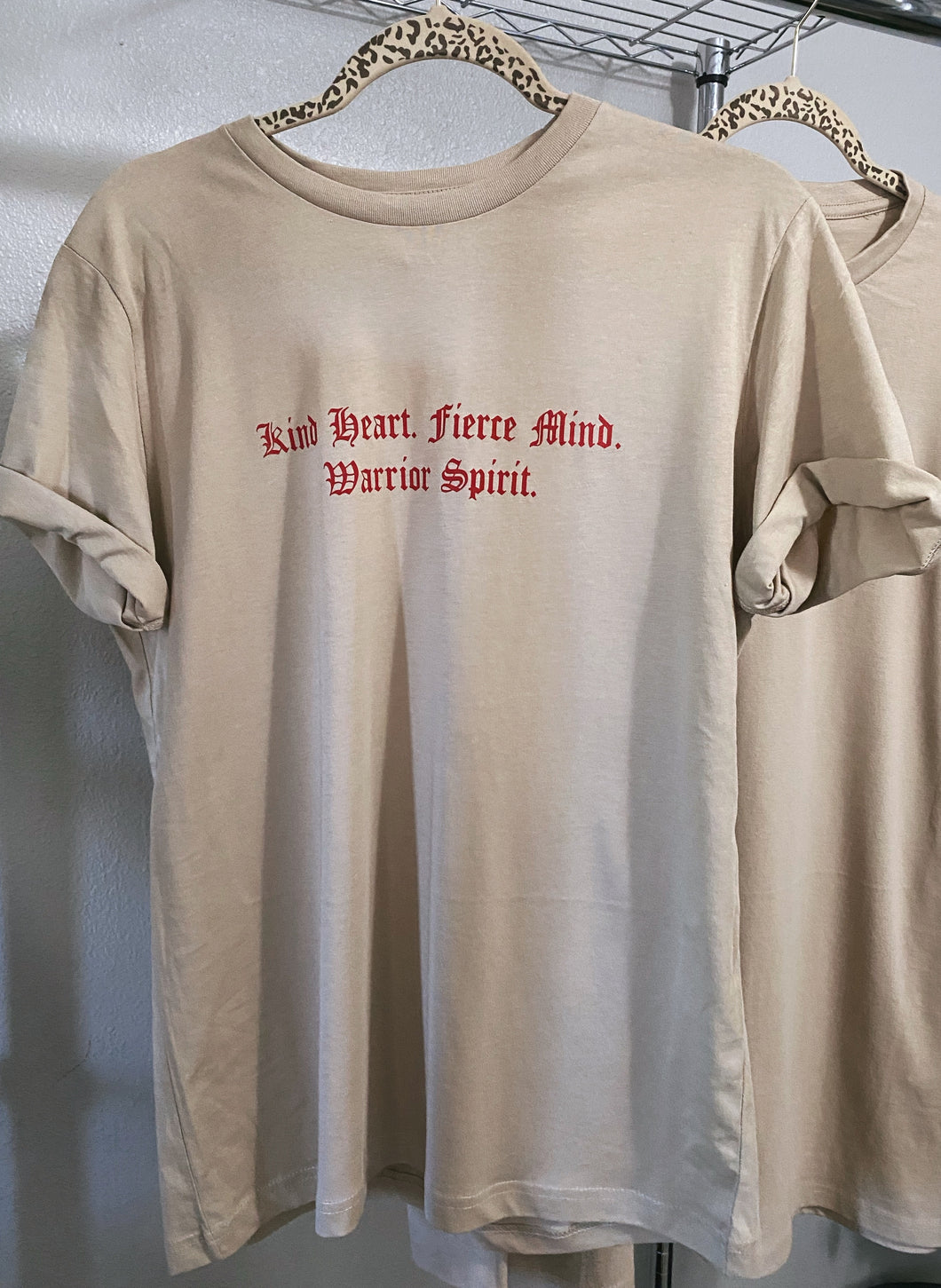 Warrior Spirit Tan Tee