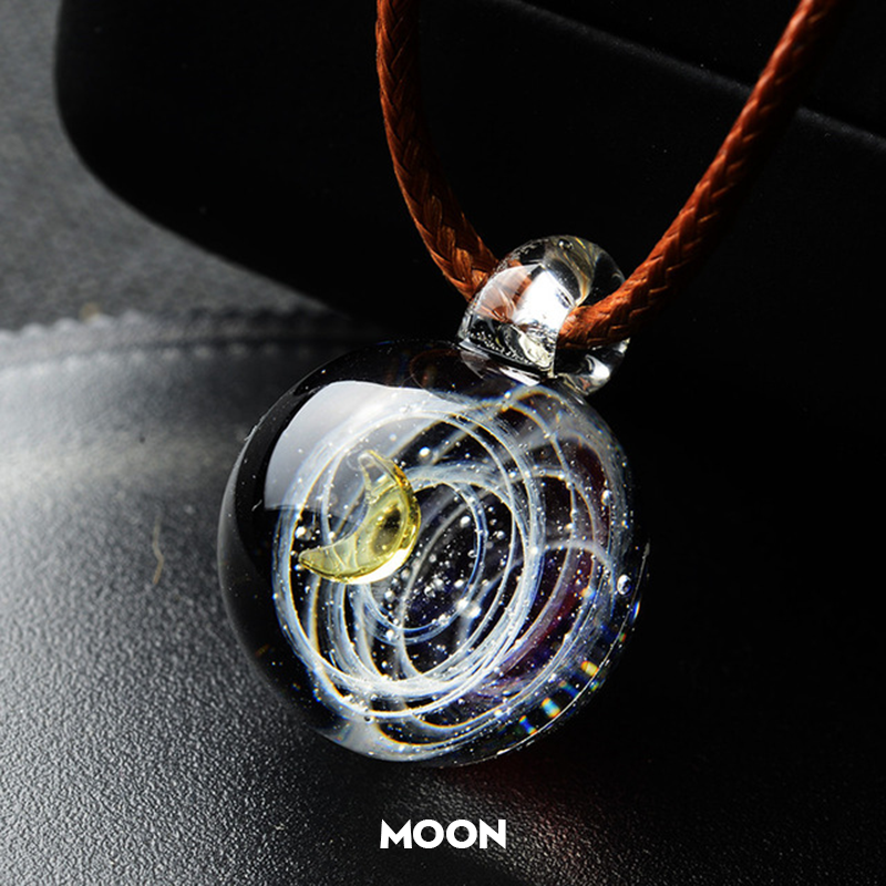 Cosmic Galaxy Glass Pendant