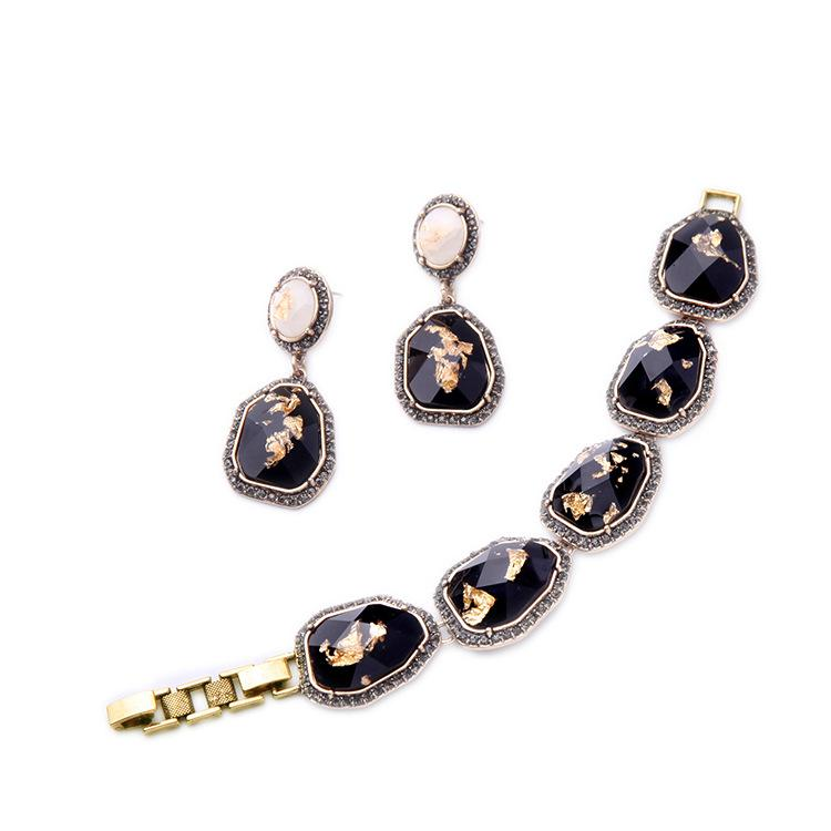Black Gem Earring