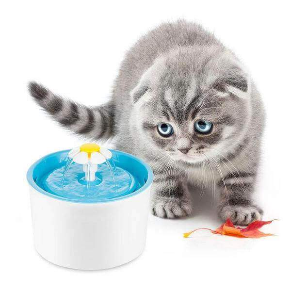 Cat Flower Drinking Fountain