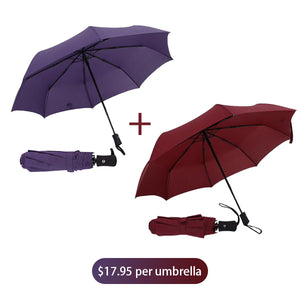 Large area automatic non-stick umbrella
