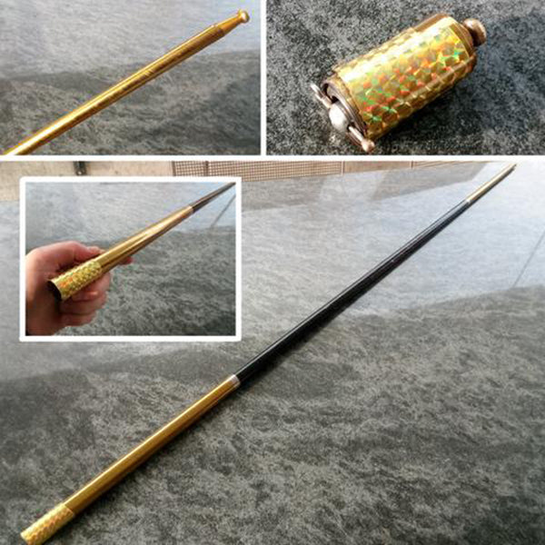 Amazing Collapsible Metal Cane/Staff Several Colors And Lengths
