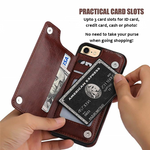 4 in 1 Multi-card Slot Dustproof Luxury Leather Case - Carefully Handmade