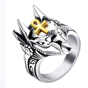 Egyptian Cross Beast Ring/Jewelry Gift