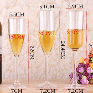 Acrylic Champagne Glasses,Red Wine Glass