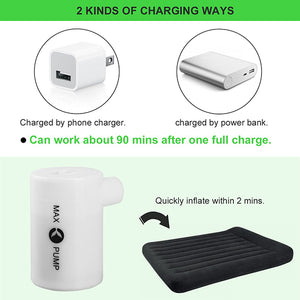 Portable Air Pump with 3600mAH Battery USB Rechargeable lightweight Air Pump