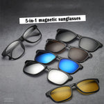5-in-1 magnetic detachable sunglasses
