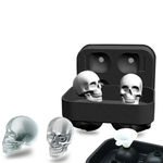 3D Skull Flexible Silicone Ice Cube Mold Tray,Six mold options