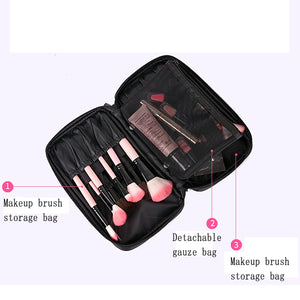 Large Capacity Detachable Makeup Brush Bag