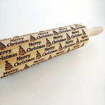 2018 Christmas Wooden Rolling Pins-Biscuit pattern
