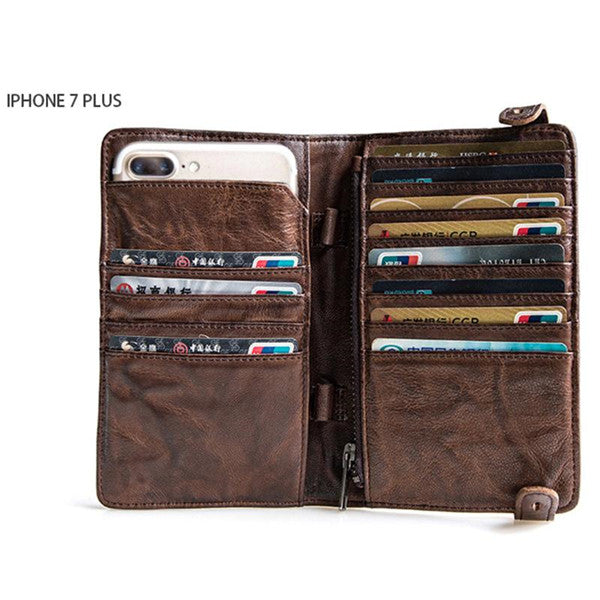 Handmade Men's Leather Vintage Travel Wallets