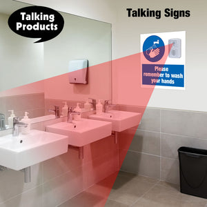 Talking Signs remind you to wash your hands