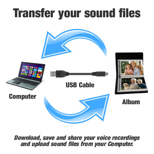 Talking Photo Album Deluxe save recordings to a computer via usb socket download