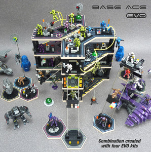 Base Ace EVO Kit Pack of 4 3D Play Platform for LEGO mini figures