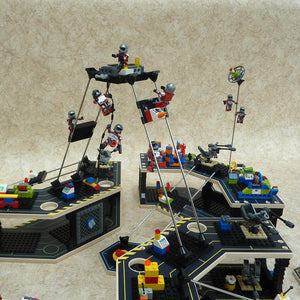 Base Ace Transporter Platform - Compatible with LEGO, MEGA-BLOKS