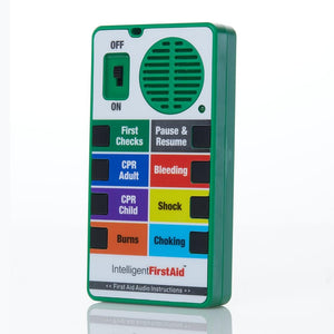 First Response Talking First Aid Device with Audio Instructions