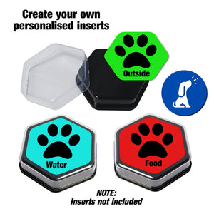 talking buttons and sound buttons for dog training