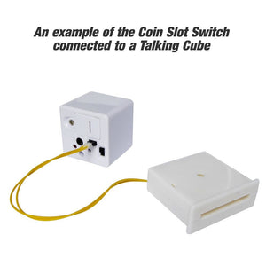 coin slot switch connected to a talking cube