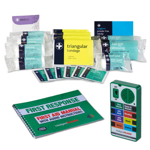 Talking First Aid Kit contents Intelligent First Aid