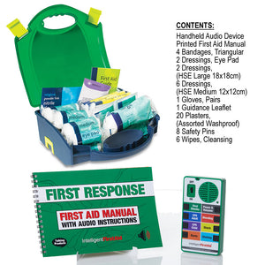 Talking First Aid Kit contents by Intelligent First Aid