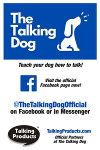 the talking dog buttons dog training facebook
