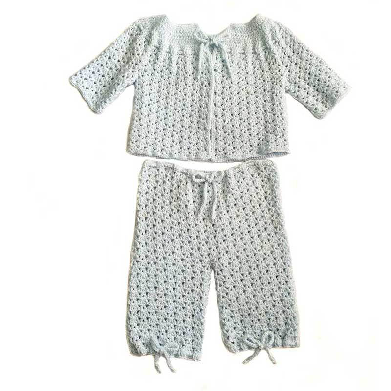 Crochet Baby Set Blue
