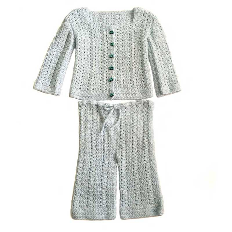 Crochet Baby Set Light Blue