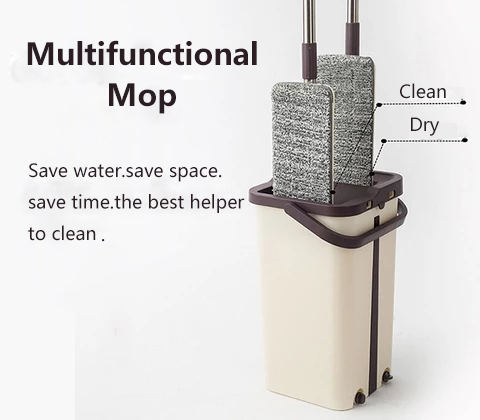 Hands-free lazy mop dry cleaning introduction