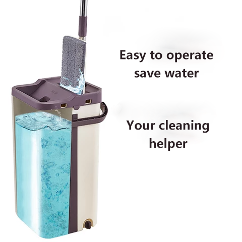 Hands-free lazy mop planing plan