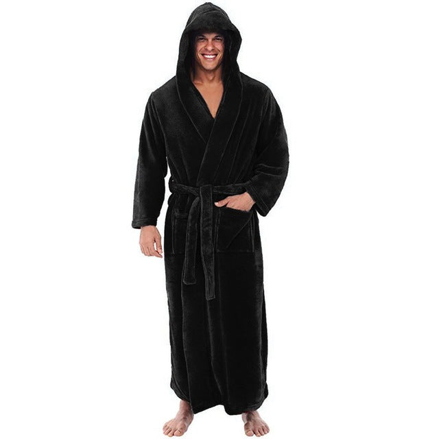 Men's Hooded Plush Nightgown