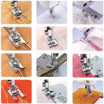 Sewing Machine Presser Foot Kit - 32 Piece Set with Instruction Manual