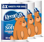 TREASURE ULTRA SOFT CUSHIONY TOUCH TOILET PAPER, 10 COUNT FAMILY MEGA ROLLS = 123 REGULAR ROLLS