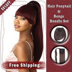 【50%OFF】Hair Bangs and Ponytail Extension Set